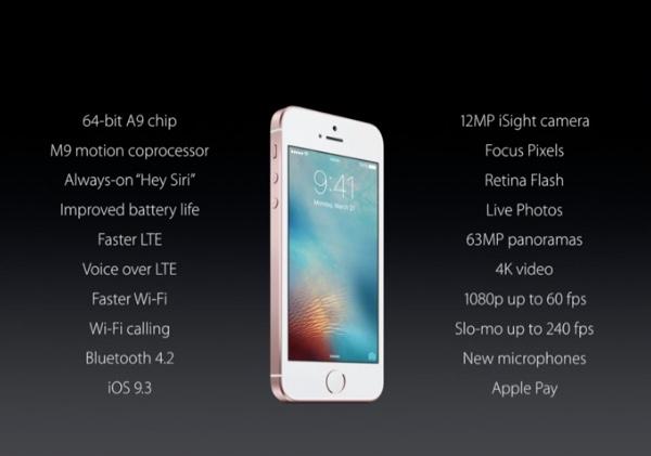 iPhone SE Tech specs