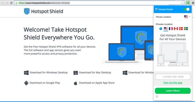 Hotspot Shield VPN for Google Chrome