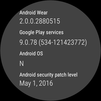 Android Wear 2.0 update for the Huawei Watch