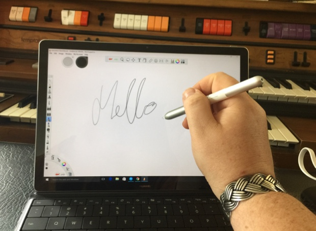 The MatePen stylus in action