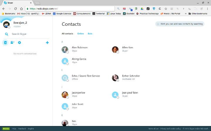 Skype on Chrromebook