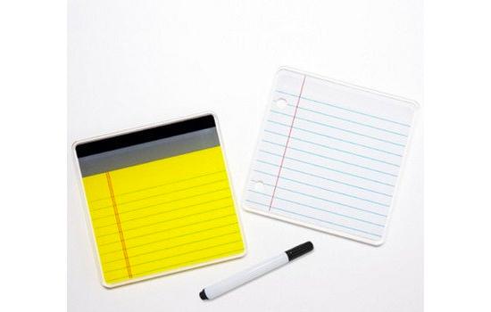 Waku Notepad coasters