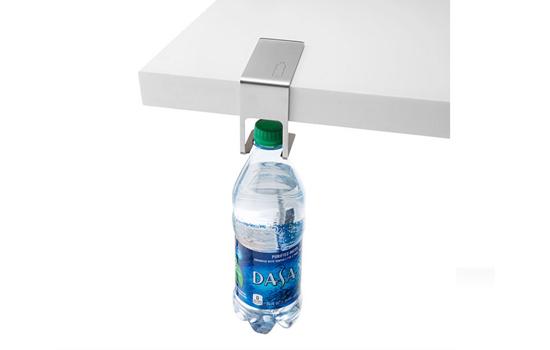 Table space saving bottle hanger