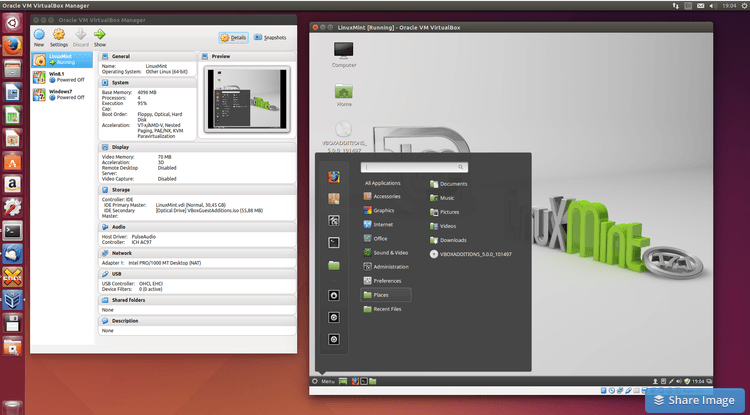 VirtualBox (instead of Parallels)