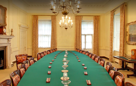 10 Downing Street: The Cabinet room
