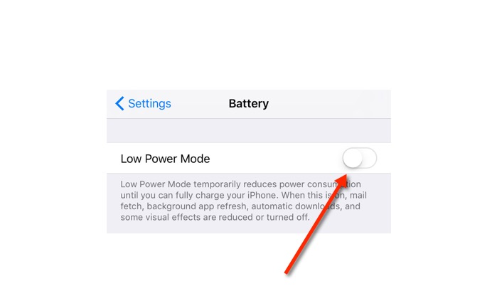 Low Power Mode