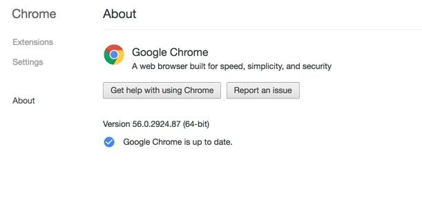 #1: Update Google Chrome