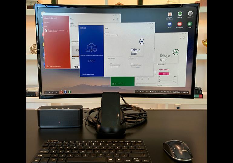 Samsung DeX with Microsoft Office