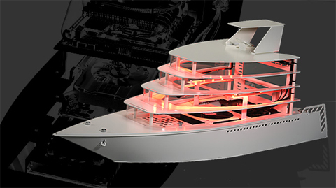 Aluminum yacht chassis computer case