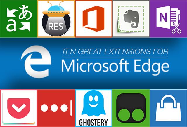 Edge has extensions