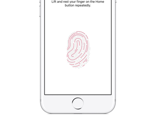 Touch ID embedded into the display