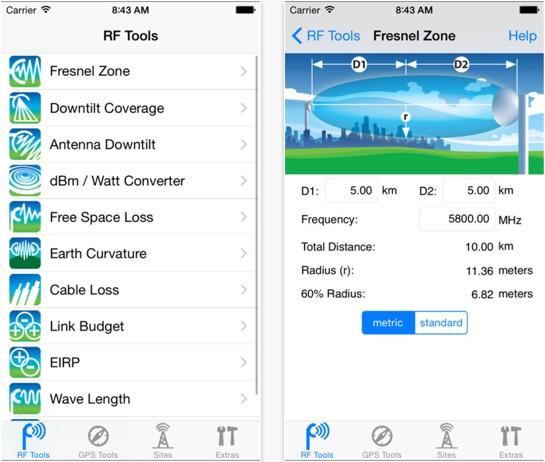 RF Toolbox (iOS only)