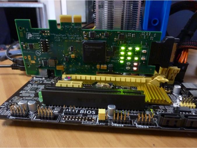 PassMark PCIe test card