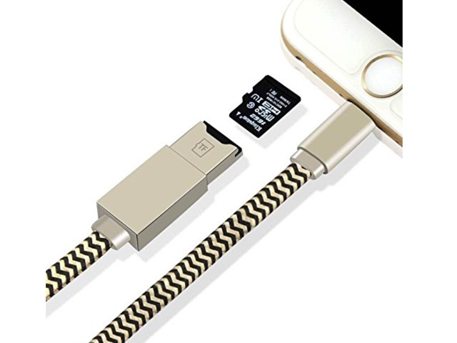 iPhone micro SD card reader