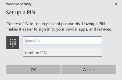 Windows 10 PINs