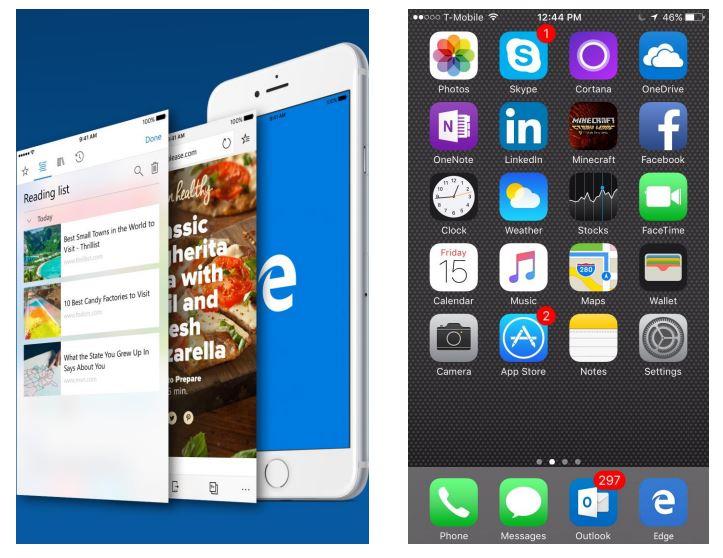 Microsoft Edge for iOS/Android
