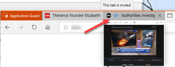 Edge catches up with other browsers, offers mute icon for noisy tabs