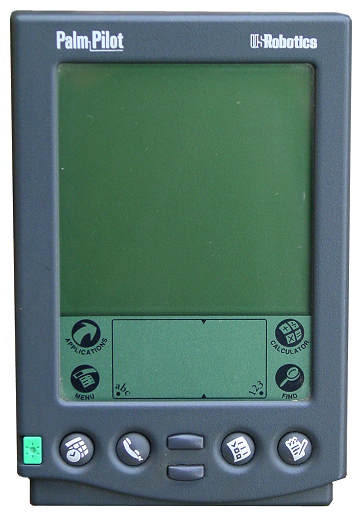 1996: Pilot handheld (first palm handheld)