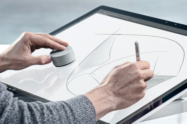 The Surface Studio takes over the desktop