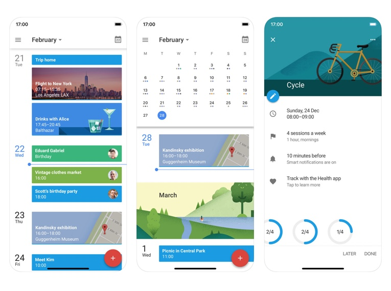 Calendar and Contacts