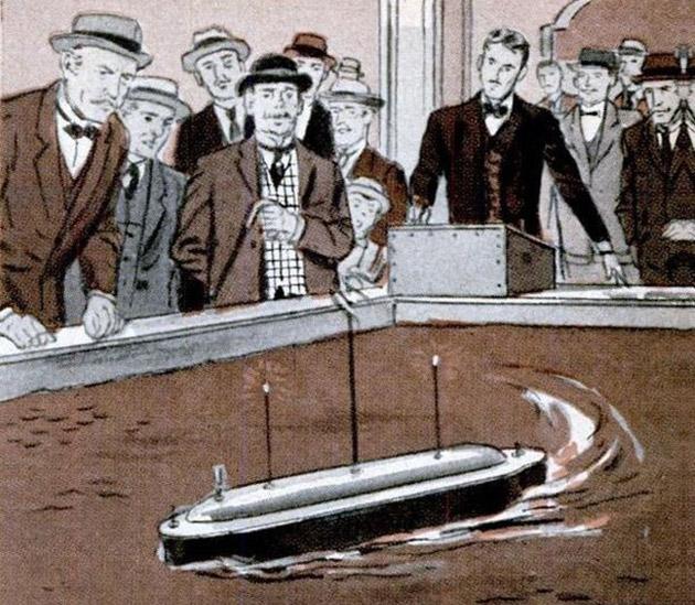 Tesla's remote control boat