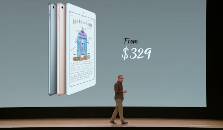 The sixth-generation iPad