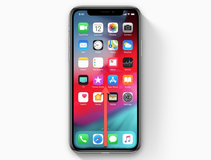 How to get to the home screen on the iPhone XS/iPhone XR