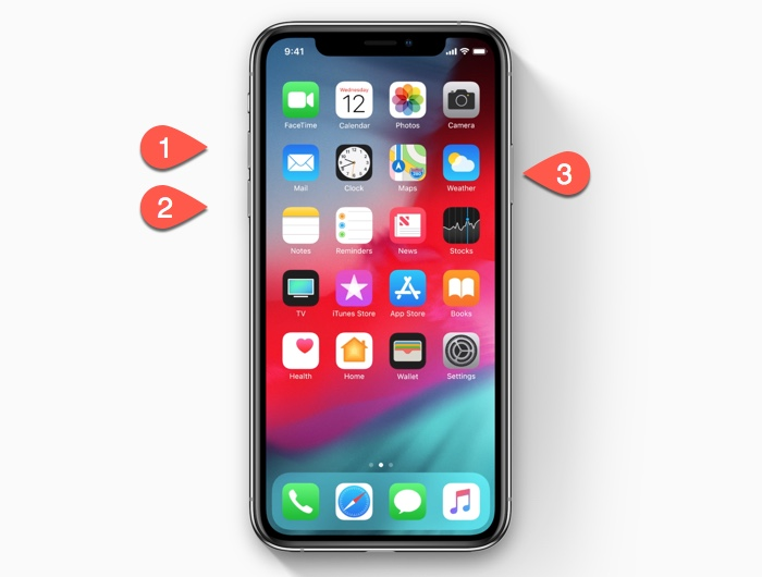 How to reboot the iPhone XS/iPhone XR