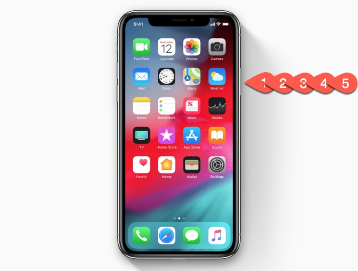 How to activate Emergency SOS on the iPhone XS/iPhone XR