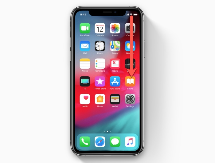 How to open Control Center on the iPhone XS/iPhone XR