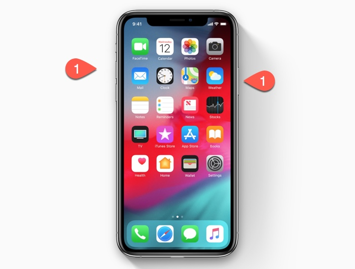 How to take a screenshot on the iPhone XS/iPhone XR