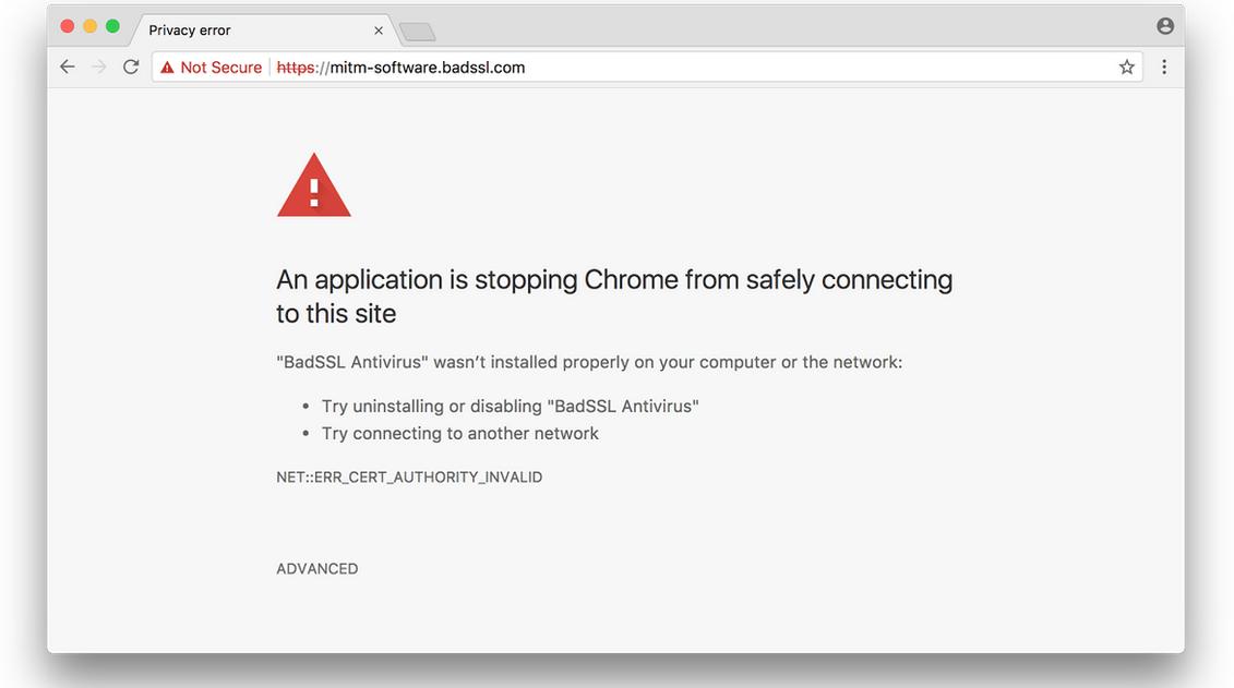 Chrome MitM page
