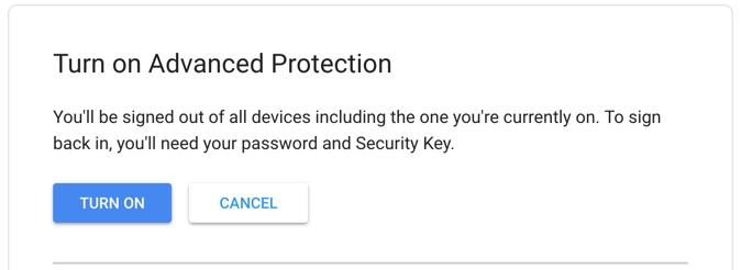 Turn on Advanced Protection