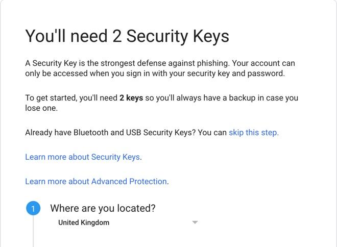 You will need two hardware keys