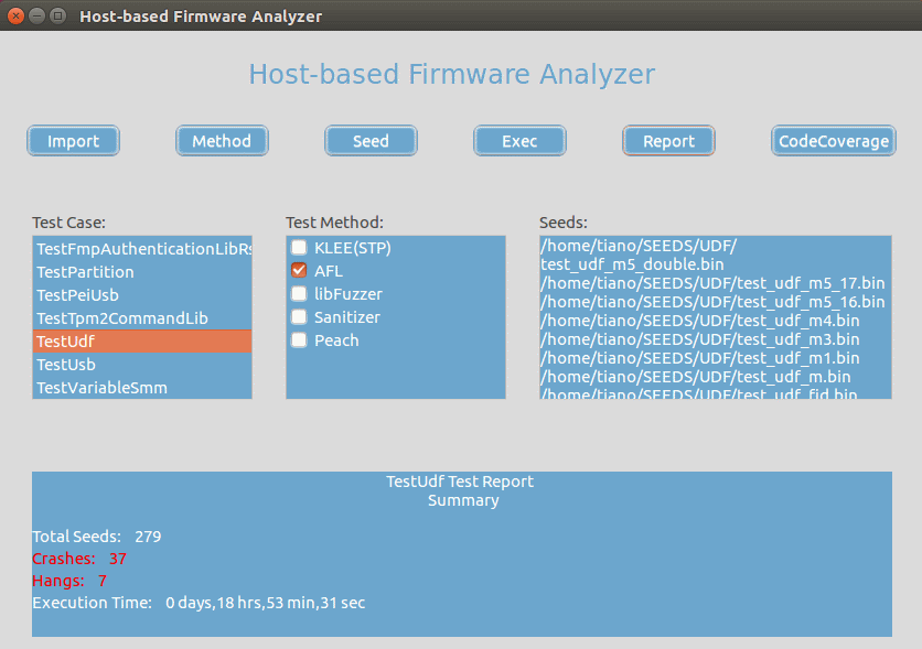 HBFA interface