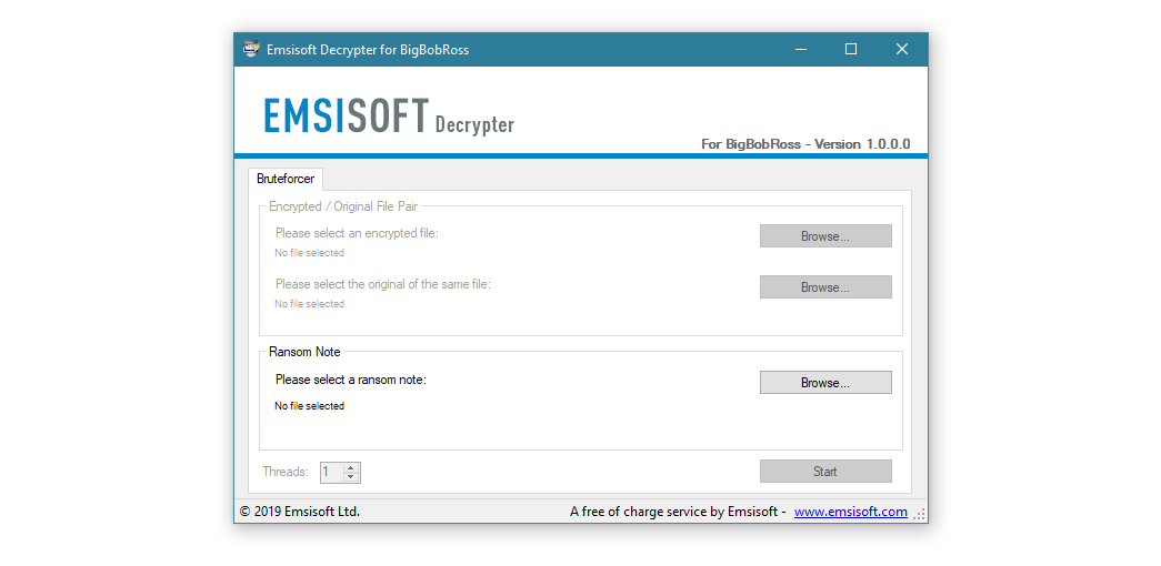 BigBobRoss Emsisoft decrypter