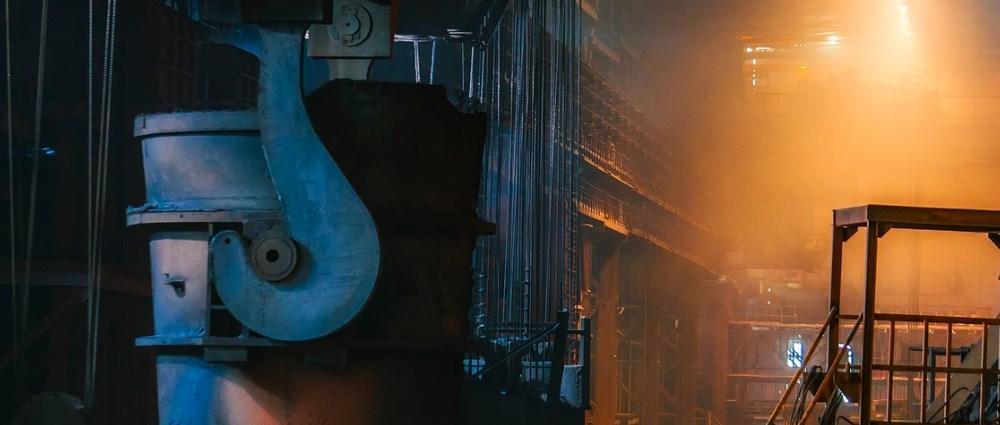 Steel factory plant