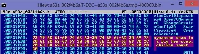Bayrob message to Symantec