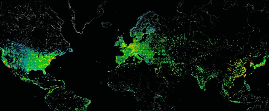 World map globe cyber internet