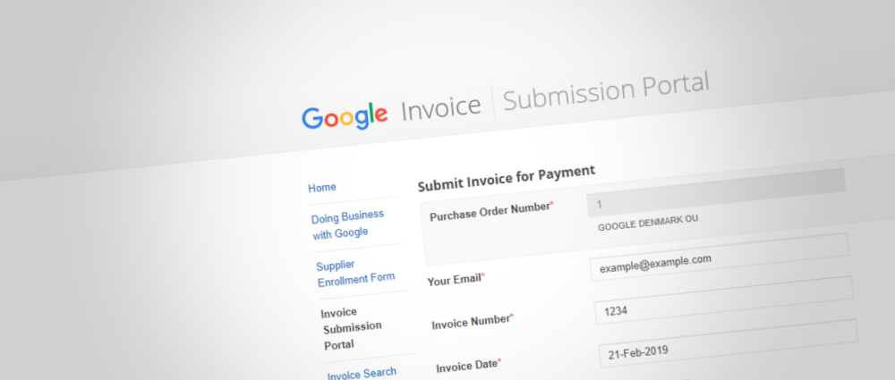 Google Invoice Submission Portal