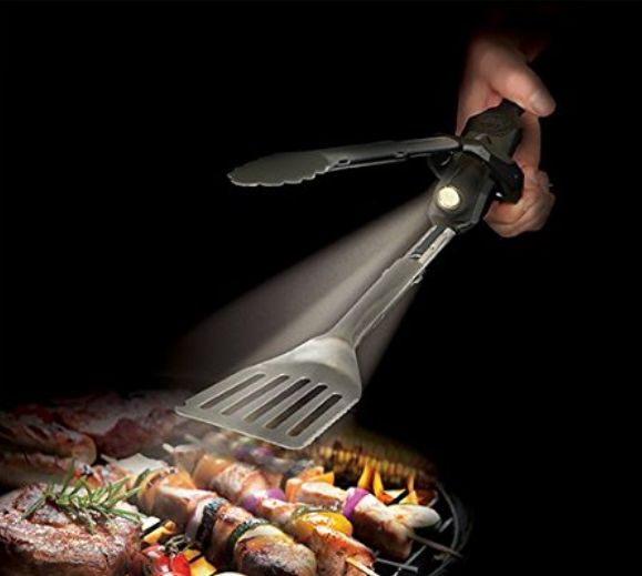 Outdoor Edge Barbecue Tongs and spatula with flashlight  for $25.95
