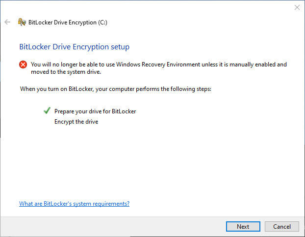 Step 6: Enable BitLocker encryption for your system drive