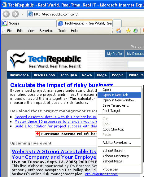 2006: IE7 adds tabbed browsing, but it's too little, very late