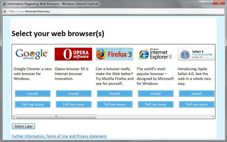 2010-2013: EU antitrust regulators force Microsoft to offer a browser choice