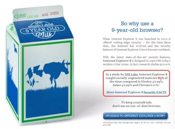 """2010: Microsoft begs users to dump """"out of date"""" IE6"""