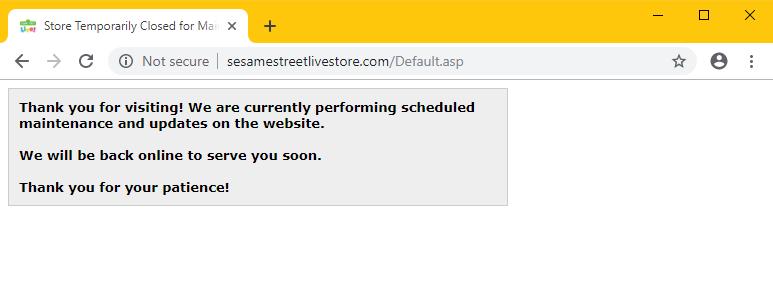Sesame Street site in maintenance mode