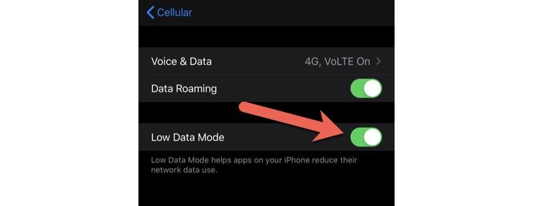 Low Data Mode for Cellular