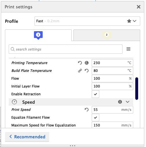 Here are the correct print settings