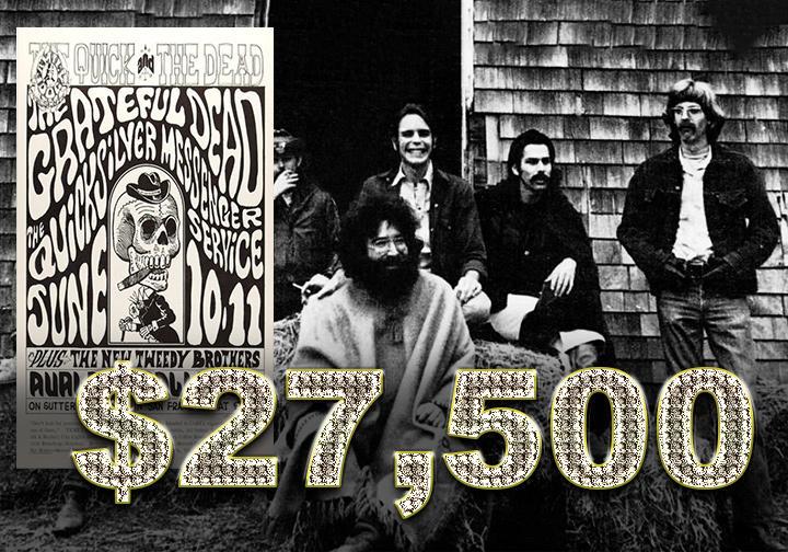 Grateful Dead 1966 concert poster - $27,500