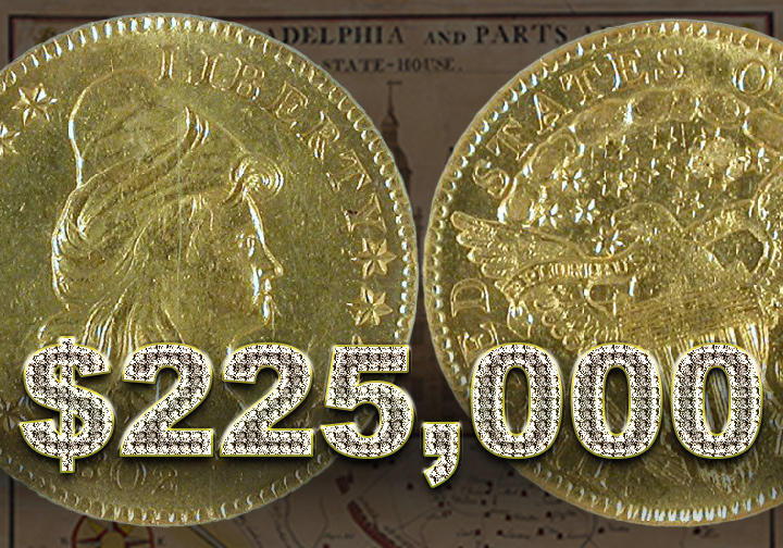 1802 Liberty Cap, Two-and-a-half dollar coin - $225,000